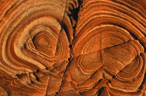 Copper rock pattern