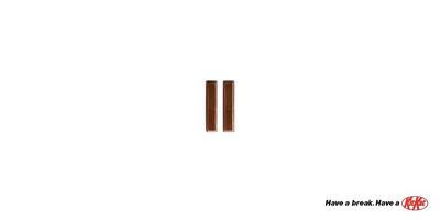 Minimalist KitKat ad
